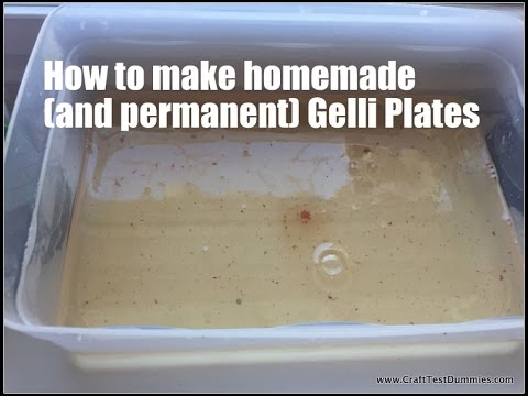 Homemade And Permanent Gelli Plate Recipes Youtube