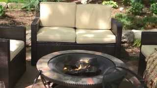 Palm Harbor Conversation Set with Glendale Fire Pit - Product Review Video