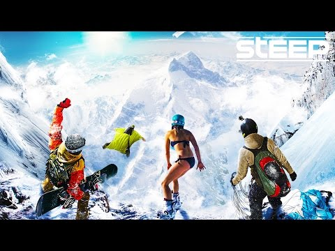 STEEP: TEAM GO PRO!! - Steep Wingsuit, Skying & Snowboarding