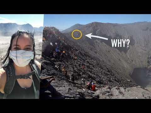 They Threw Live Animals Into A Volcano - The INSANE Festival At Mt Bromo, Indonesia