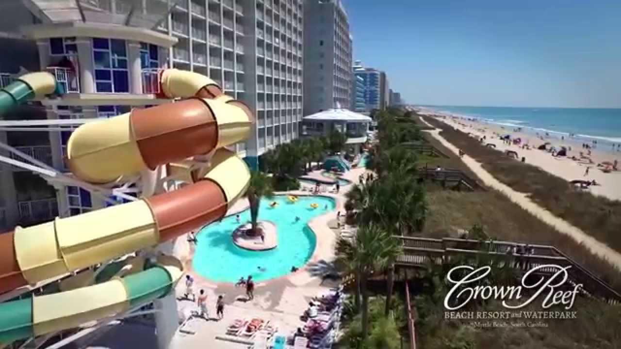 Myrtle Beach Resorts >> Crown Reef Beach Resort And Waterpark Resort Overview Youtube