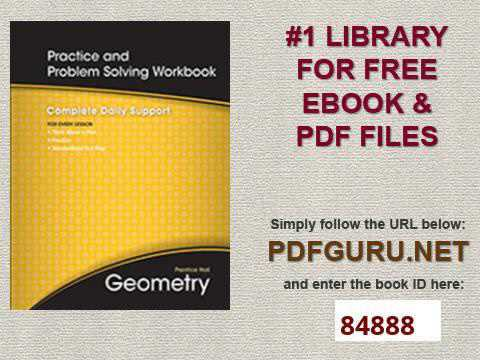 Problem solving workbook