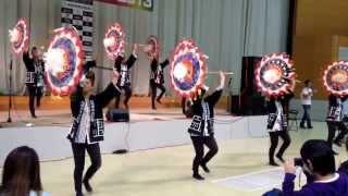 因州傘舞維新会 怒涛玉 2013/10/27《米子バランス祭 きなんせ節》