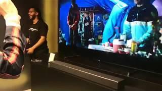 Samsung Soundbar HW-N950 with 88Q9F television 2018