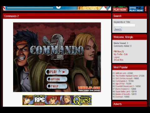 Commando 2 Hacked Www Arcadeprehacks Com Youtube