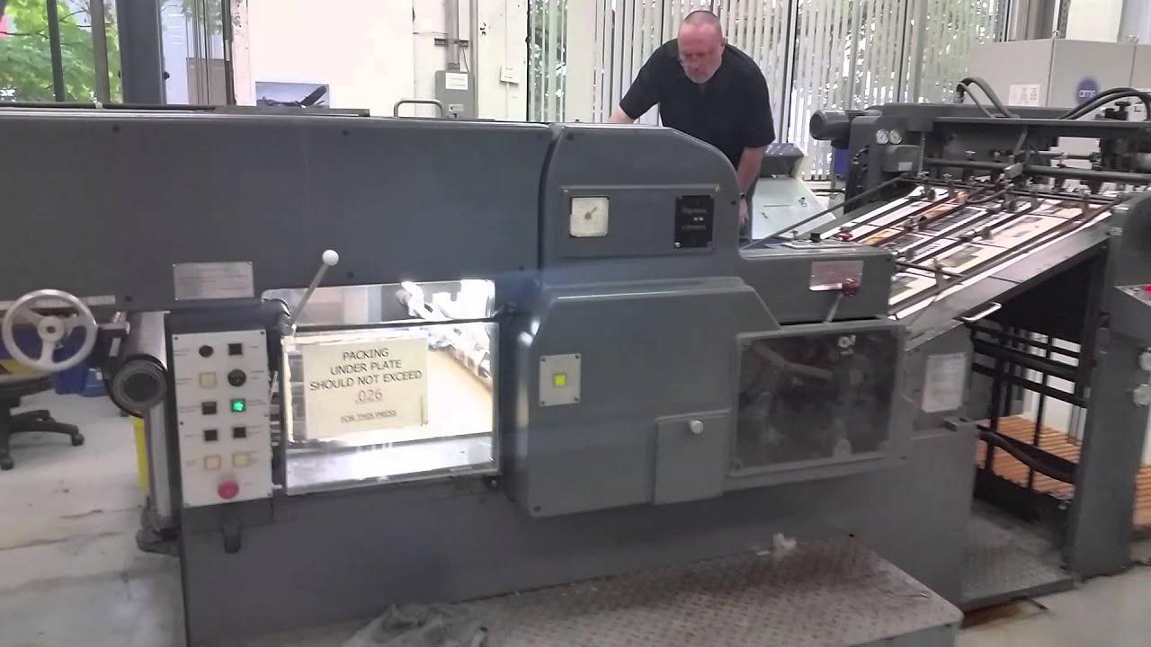 heidelberg sgs cylinder die cutter