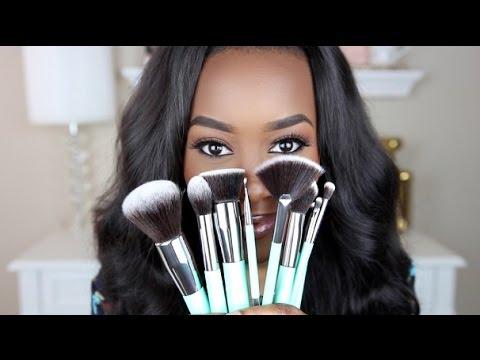 best makeup brush set for beginners  giveaway  andrea