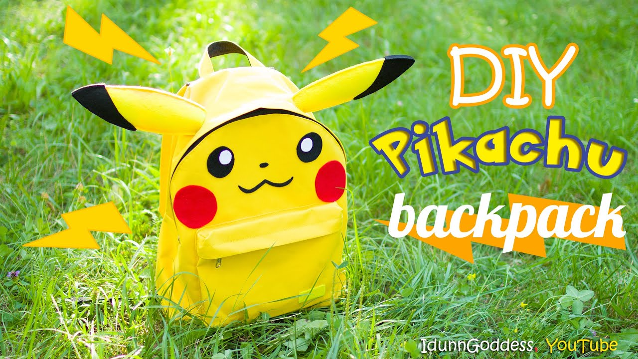 How To Make A Pikachu Backpack – DIY School Supplies in Pokemon Go Style 7630e302b2666