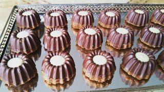 حلوة بدون فرن خطيبييرة للعيد الفطر بالبسكوي والشكلاط  من ارقى مايكون. من تقديم نادية الفاسية