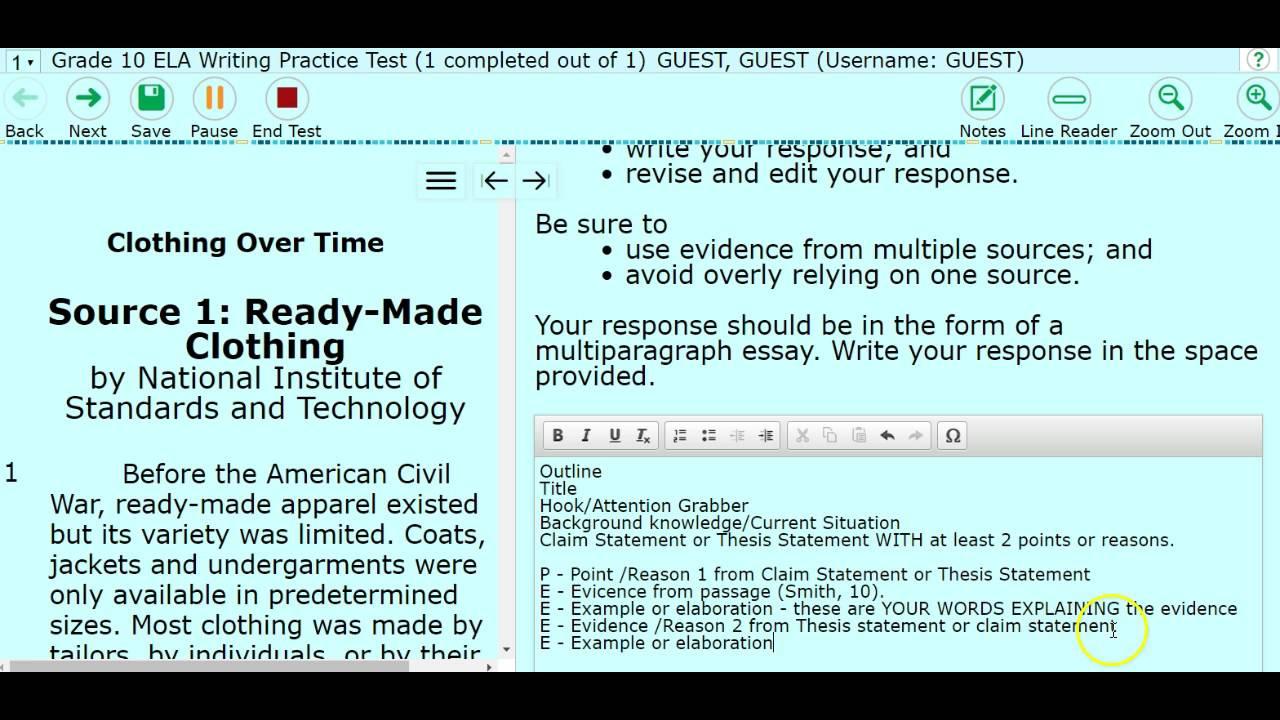 FSA Writing Basics