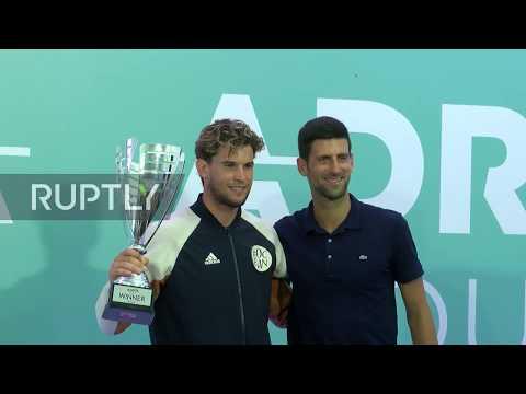 Serbia: Dominic Thiem wins Belgrade Adria Tour 2020 finals