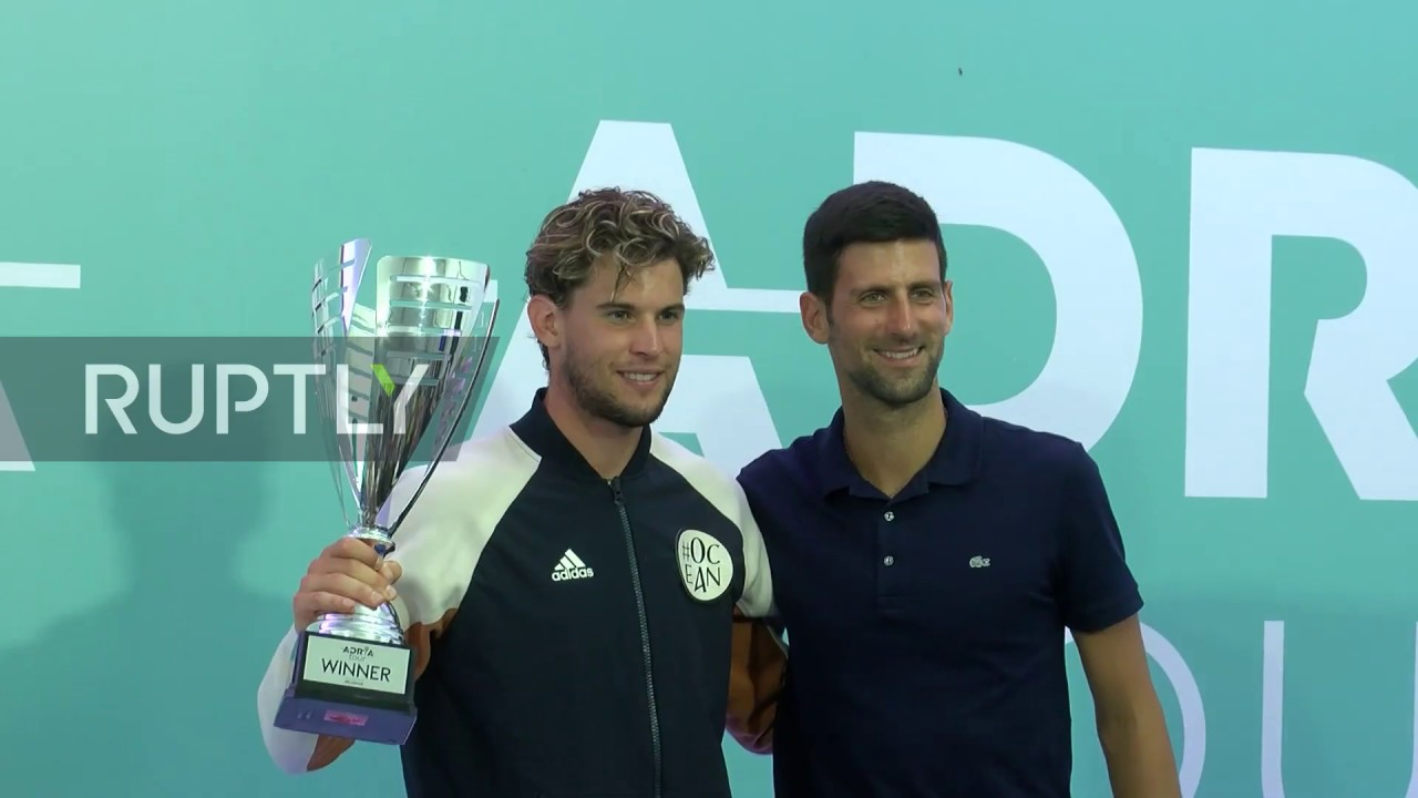 Serbia: Dominic Thiem wins Belgrade Adria Tour 2020 finals - YouTube