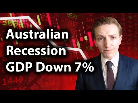 Australia In Recession | GDP Down 7% | Why Is Australia In Recession? Investment Opportunity?