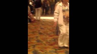 People in a false alarm fore drill of beau rivage