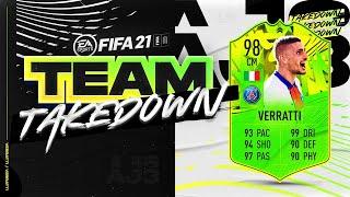 Fifa 21 Team Takedown!!! 5 STAR 5 STAR VERRATTI!!!
