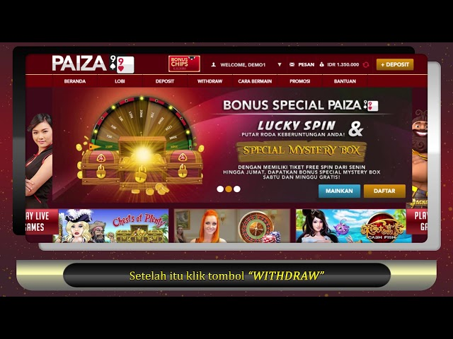 Tutorial Cara Withdraw di Paiza99