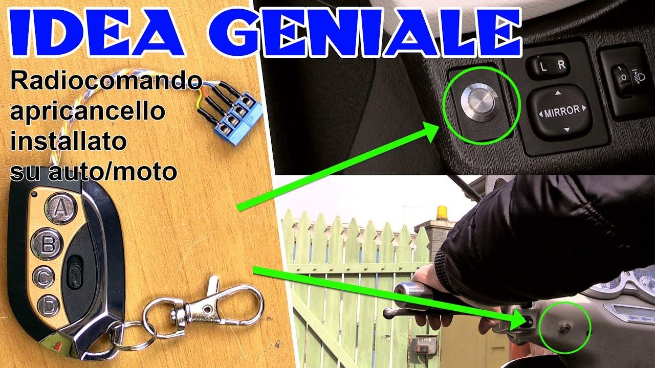 Schema Elettrico Auto : Idea geniale come aprire il cancello elettrico da scooter auto
