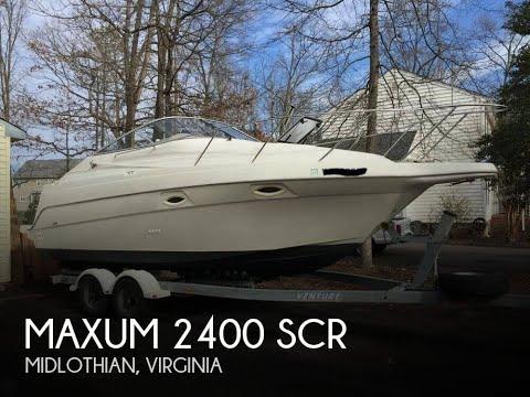 2001 Maxum 2400 SCR For Sale