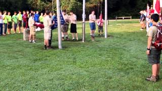 Troop 421 Flag Ceremony Camp Ho Non Wah