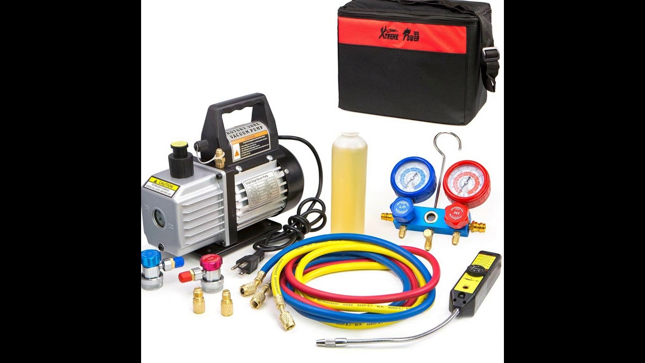 XtremepowerUS 4CFM Air Vacuum Pump HVAC A/C Refrigeration Kit