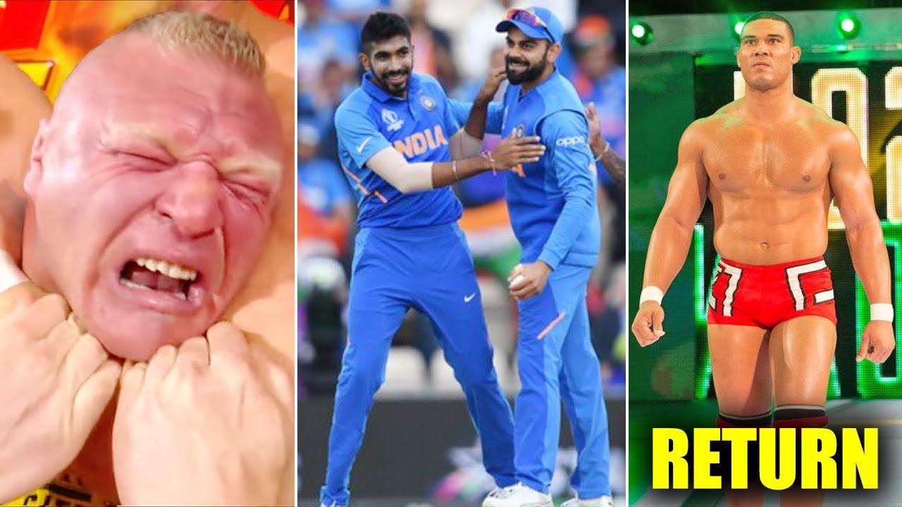 WWE Vs Team India Cricket Match.. Brock Lesnar Paralysed Incident, Raw Ratings, Jason Jordan In-Ring