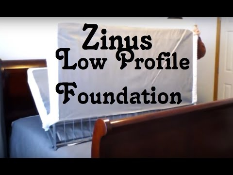 Zinus 4 Inch Low Profile Bi Fold Boxspring Review Youtube