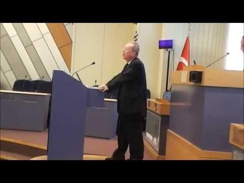 Prof. Michel Balard speaking about the birth of the Giustiniani Clan, Izmir, Oct 2014