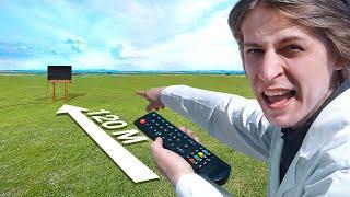 На каком расстоянии смогу включить телевизор пультом?