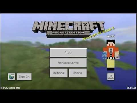 game play minecraft pe v16.0.apk || DOWLOAD DATA GAME APK  #Smartphone #Android