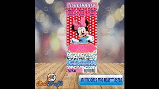 Invitaciones Infantiles Tipo Ticket Master
