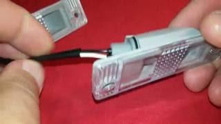 снятие фонаря освещения номерного знака, замена лампы для Daewoo Matiz