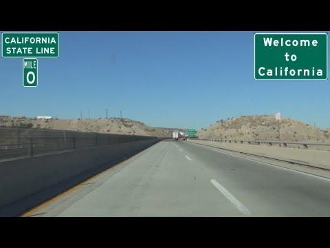 I-40 Westbound in Arizona into Needles, California