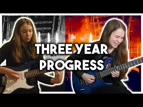 Three Years Playing the Electric Guitar – Month by Month Progress