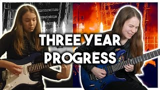 Three Years Playing the Electric Guitar - Month by Month Progress