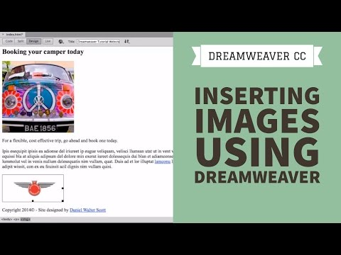 Inserting Images using Dreamweaver CC [7/34]