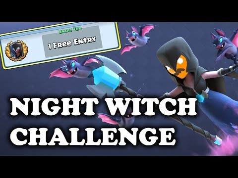 Night Witch Challenge Gameplay & Tips with Woody   Clash Royale
