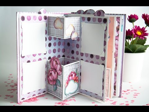 3D Baby Girl Mini Album Tutorial with Kora Projects