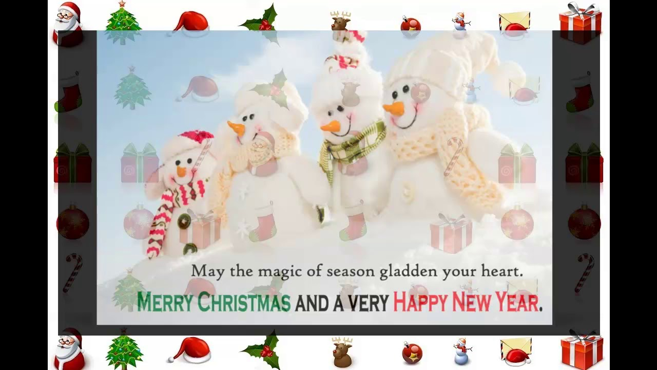 Merry Christmas Happy New Year 2018 Wishes Greetings Quotes Youtube