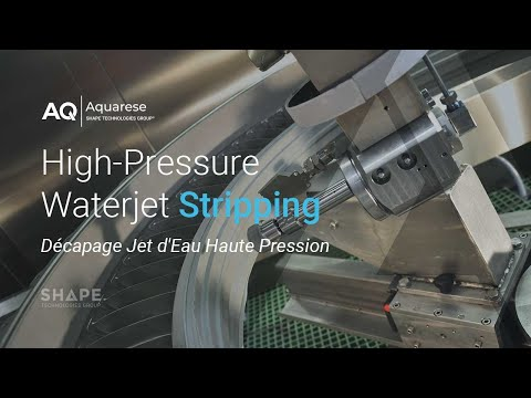 High-Pressure Waterjet Stripping (Décapage Jet d'Eau Haute Pression) - Technology by AQUARESE