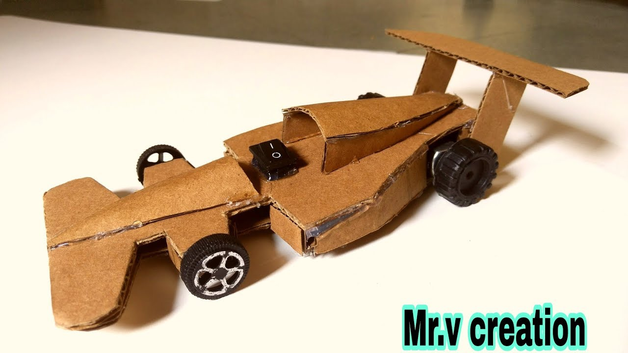 how to make ferrari car with cardboard