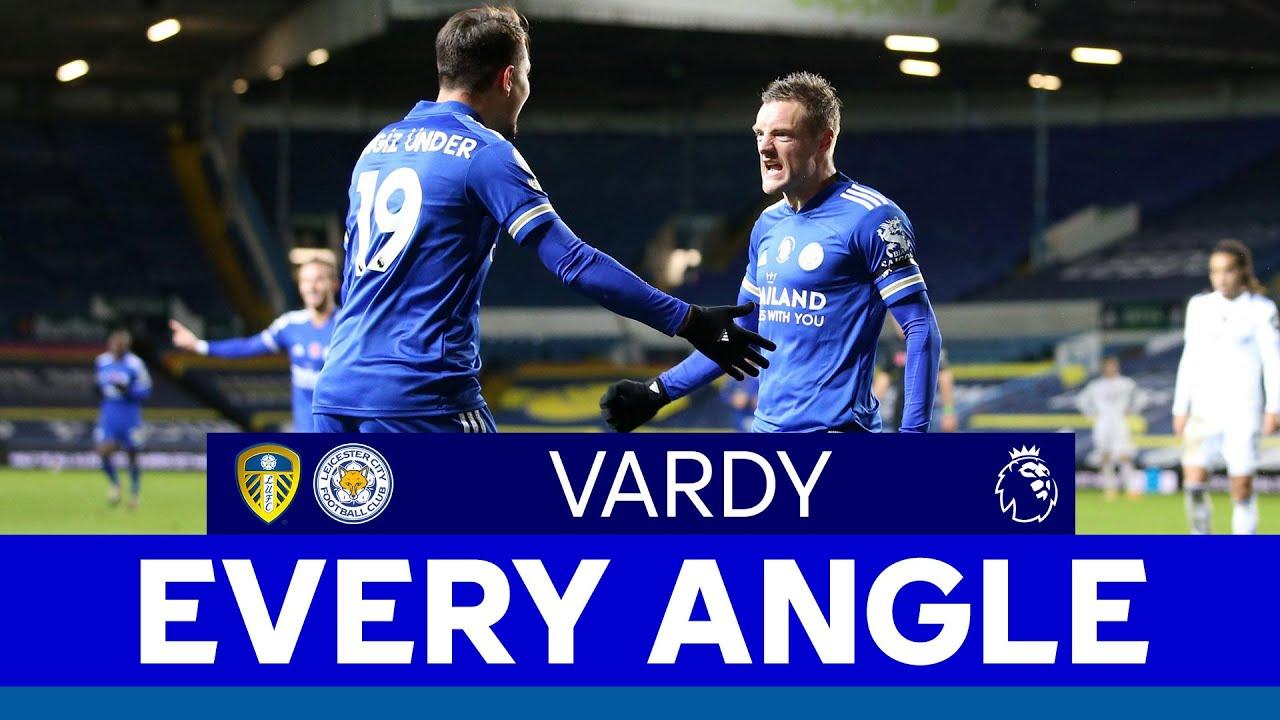 Every Angle Jamie Vardy Vs Leeds United 2020 21 Youtube