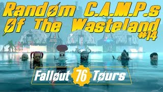 Random CAMPS of The Wasteland #14 - Fallout 76 Player Base Tours