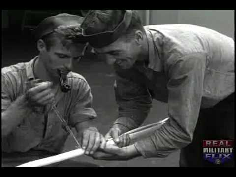 SILENT WWII film, USS BIRMINGHAM TAKES ON AMMUNITION;  BOMBARDMENT OF TINIAN (1944) Part 2