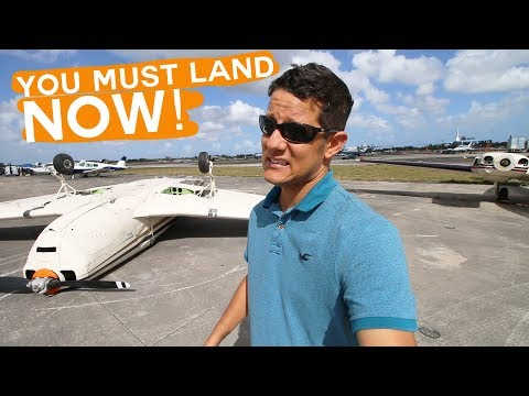 Flying from Fort Lauderdale to Miami Found an Airplane upside down at the Airport