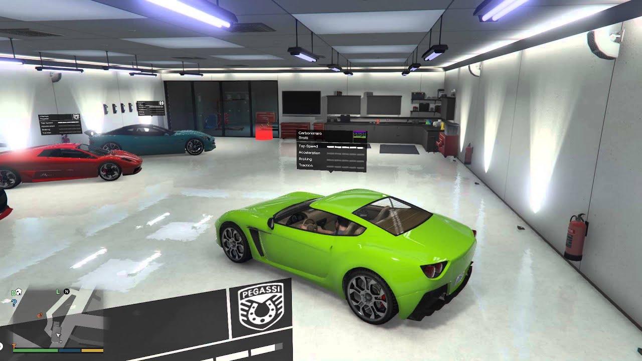 Gta V Single Player Garage Mod Youtube