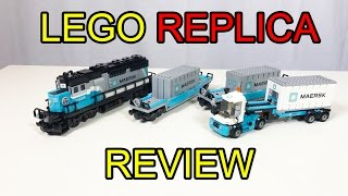Lepin Maersk Container Train Review