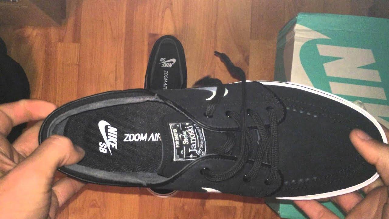 9716eceba36f Nike SB Stefan Janoski black white Unboxing   Review - YouTube