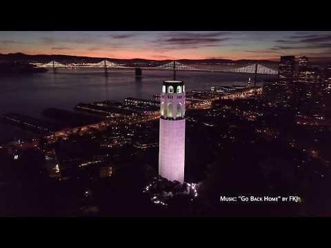 San Francisco, California - 4K Drone Feb 2018 / FKJ - Go Back Home