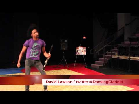 Morgantown's Dancing Clarinetist David Lawson performs for AAAHA 2014