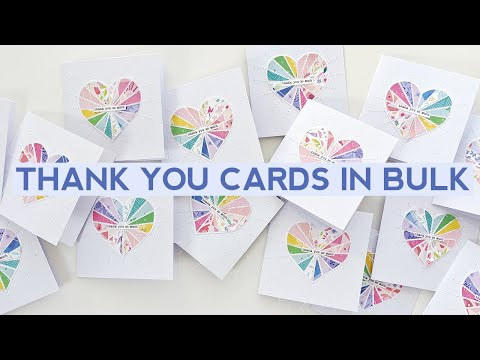 Process Video #153 - How To Make Thank You Cards In Bulk